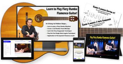 How to Play Fiery Rumba Flamenco Guitar Free Course Image
