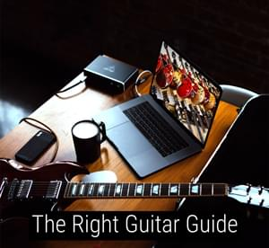 The right guitar guide image