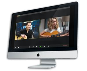 Zoom guitar lesson image