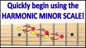 harmonic minor scale lesson image