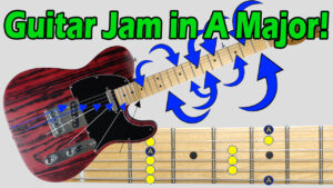 guitar jam track in A major image